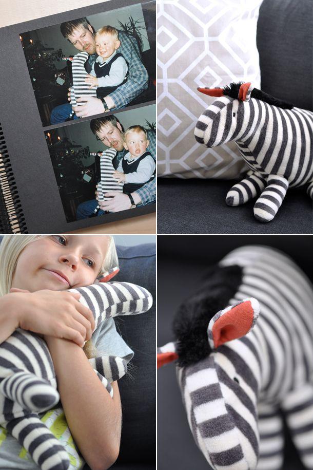 Kuscheltier Zebra, Kuschel Zebra nähen