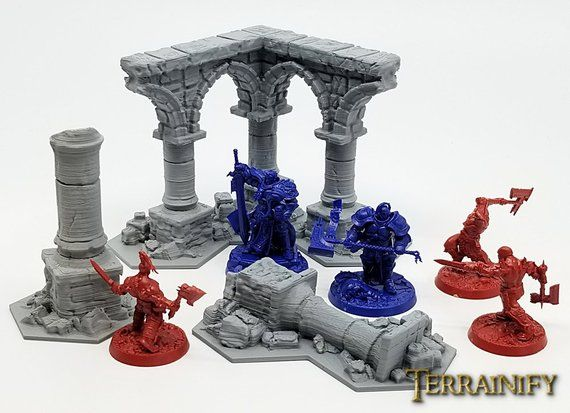 Shadespire Terrain Set – UNPAINTED kit - Miniature Wargaming