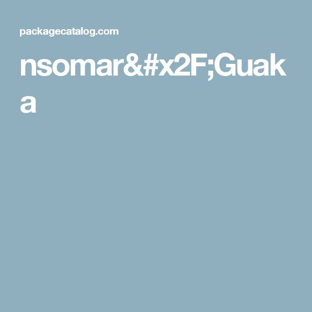 nsomar/Guaka