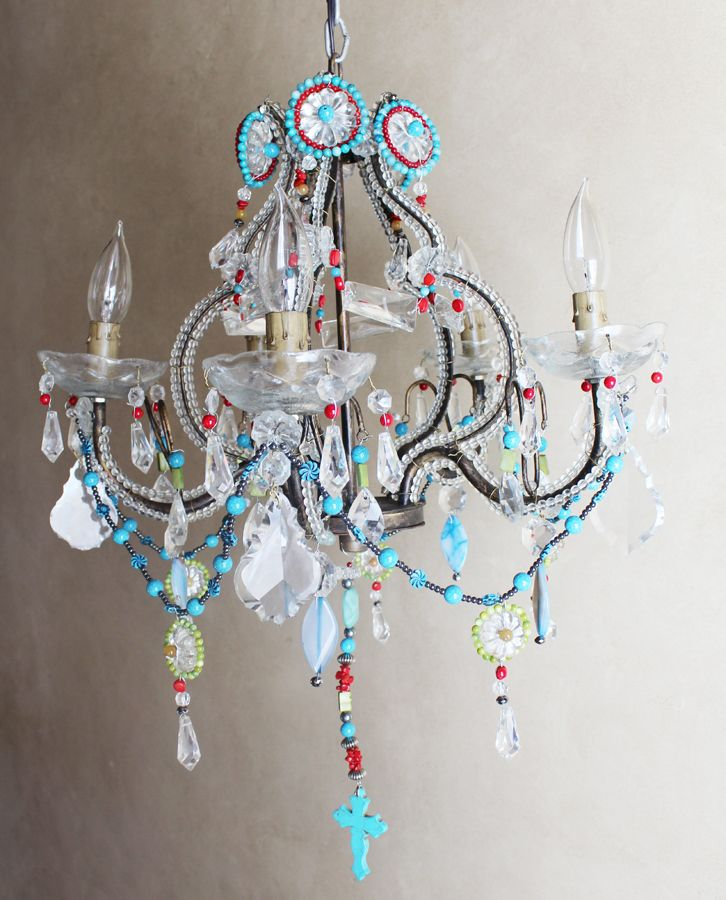 Antique Italian One Of A Kind Amazing Beaded Boho Chandelier Chic Bohemian In Antiques Architectural Garden Chandeliers Fixtures Sconces