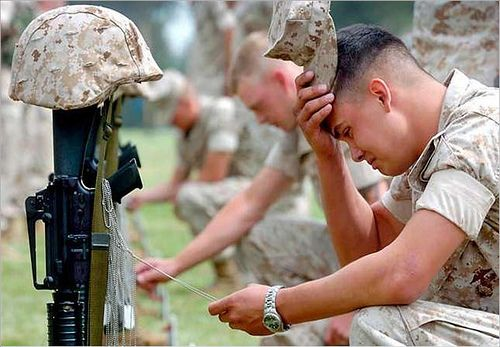 because there isn't anything funny when a soldier cries