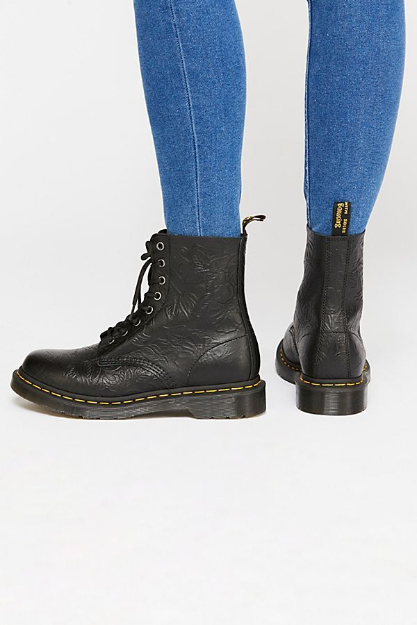 f2693e8852 Slide View 4  Dr. Martens 1460 Pascal Floral Embossed Boot