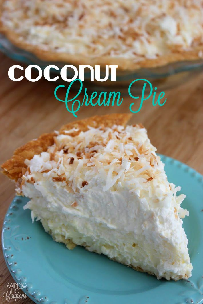 *Get more RECIPES from Raining Hot Coupons here* *Pin it* by clicking the PIN button on the image above! Repin It Here I had the most amazing coconut cream pie when I was in Hawaii and I wanted to …