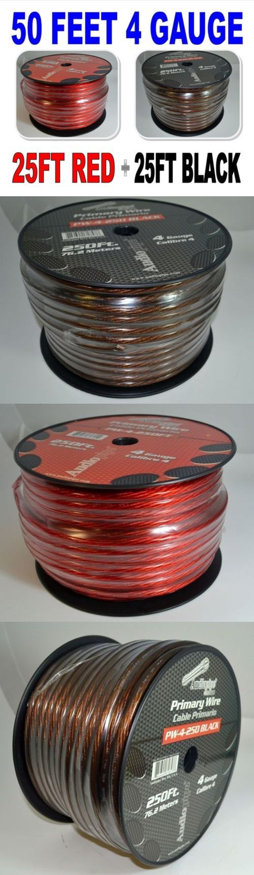 Power and Speaker Wire: 4Ga 25Ft Black 25 Ft Red Wire Cable Power Ground Primary Hand Rolled -> BUY IT NOW ONLY: $34.93 on eBay!