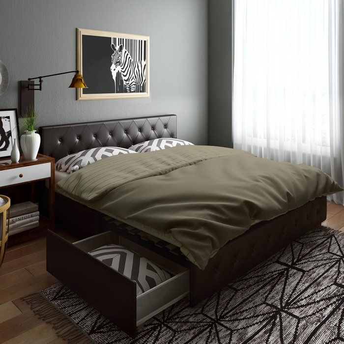 Fareham Upholstered Storage Platform Bed Storage Bed Queen