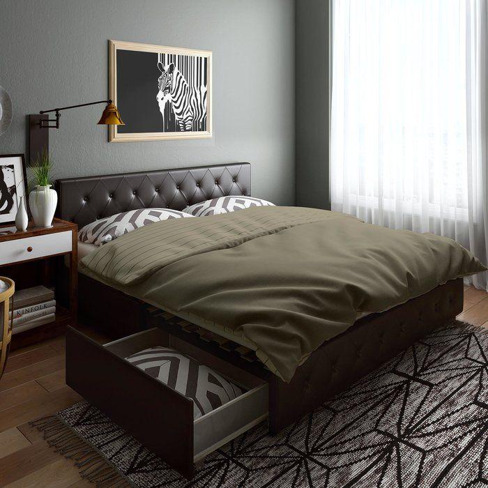 Fareham Upholstered Storage Platform Bed Bed Frame With Storage