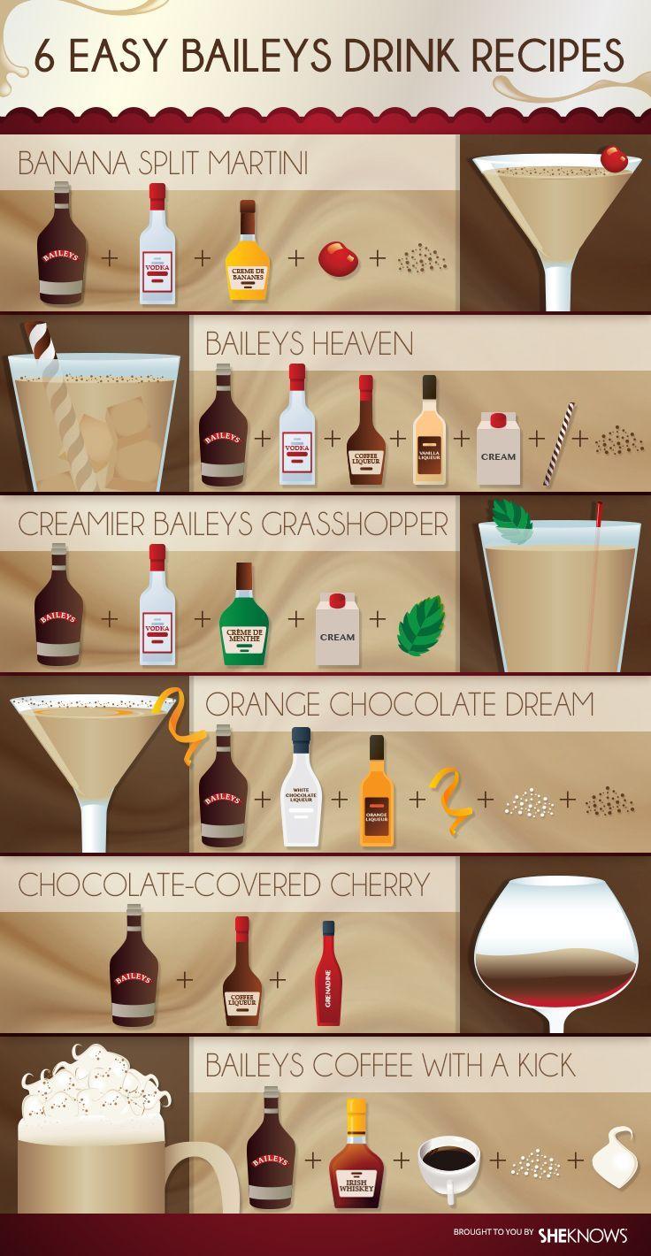 Baileys Kaffee mit einem Kick: 1,5 Unzen Baileys Irish Cream + 1 Unze Irish Whiskey ...