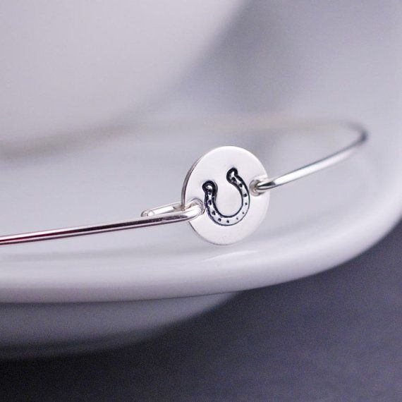Horseshoe Bracelet Horse Jewelry Sterling Silver by georgiedesigns