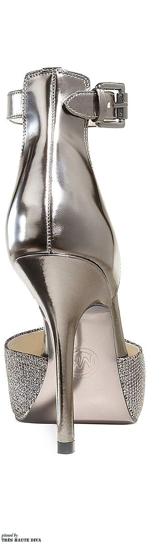 Michael Kors Brenna Ankle-Strap Evening Pumps