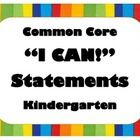"""This file includes 128 colorful posters for use in revealing Kindergarten Common Core ELA and Math Standards in student-friendly """"I Can"""" statements!  Find it at http://www.teacherspayteachers.com/Product/Kindergarten-Common-Core-ELA-and-MATH-I-Can-Statement-Posters-Bright-Colors"""