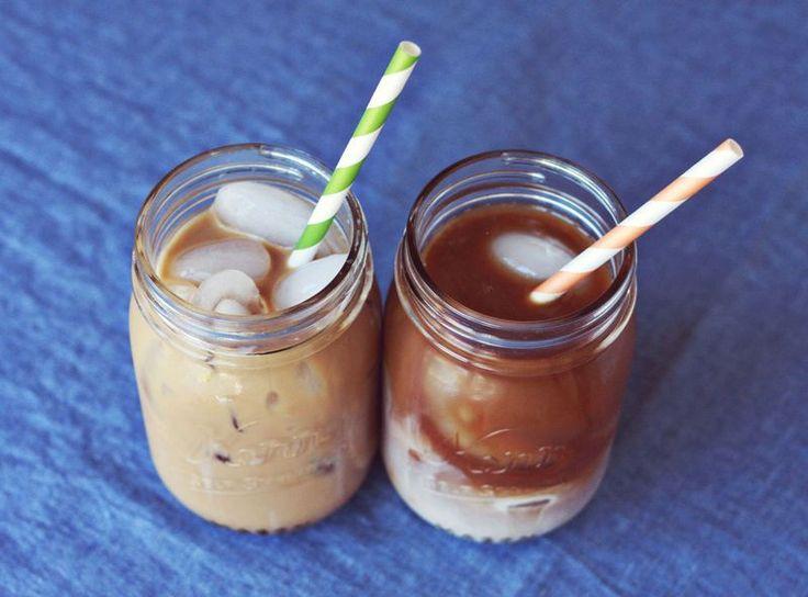 Homemade ice coffee