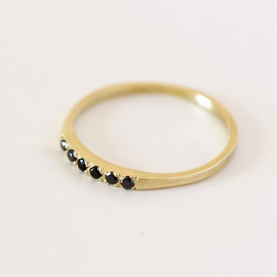 Perla anillo de compromiso con un anillo de bodas de por artemer