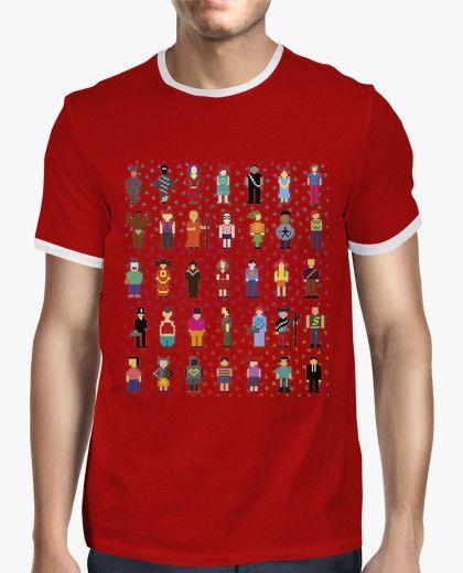 PIXEL PEOPLE (nostalgia ARCADE). Camiseta. Diversos personajes pixelados, algunos más realistas otros más extraños. Homenaje de FLIP a los videojuegos del pasado. PIXEL PEOPLE (nostalgia ARCADE). T shirt. Various pixelated characters some more realistic other more strange. FLIP tribute to the video games of the past. #pixel #personajes #game #videogame #videojuego #vintage #design #arcade #character #toy #ordenador #computer #retro #pixelated #pixelado