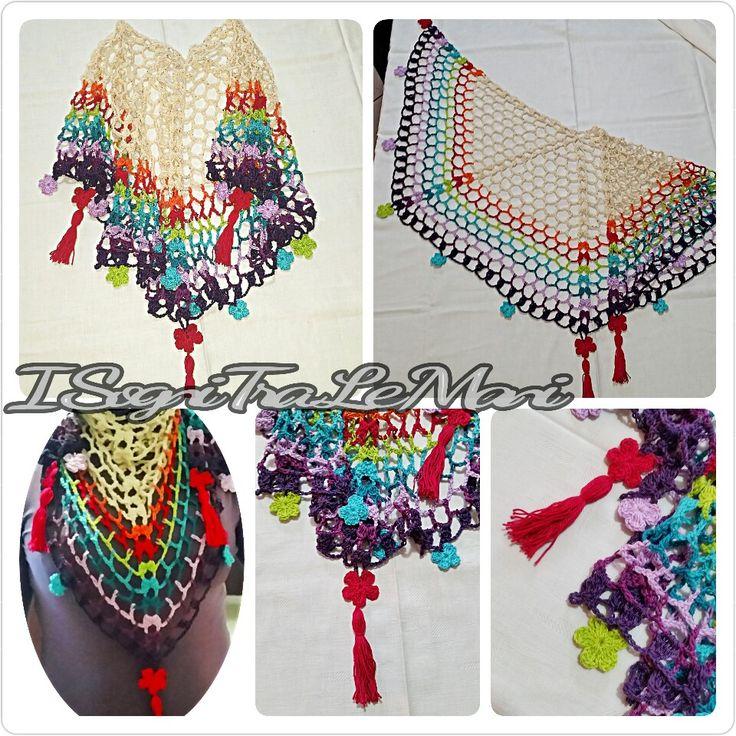 Scialle da collo Orchidea del Deserto - shawl -    Pattern di Elena Regina
