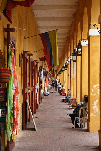 Cartagena.. Las Bovedas. Shop for souvenirs in a building that was once a prison.