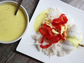Filets de carrelet sauce crémeuse au curcuma