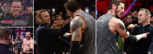 Yaab: Wayne Rooney Oo Dhirbaaxay Xiddiga WWE Wade Barrett Xilli Haatan Uu Ka Aarsan Doono King Barrett