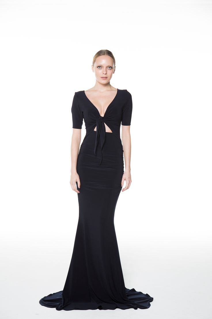 The Front-Tie Gown - Glamorous Comfort in this thick jersey gown! Made in Canada