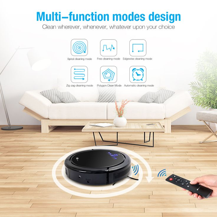 Robotic Vacuum Cleaner, EC Technology Robot Vacuum Cleaner with Intelligent  Systems, Ultra-sonic & Infrared Technology, Automatic Charging with Cliff  ...
