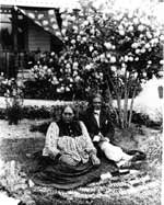 Tamahau Mahupuku, shown here with his wife Areta, was the leader at Papawai during the time of the Maori Parliament meetings held on the marae.