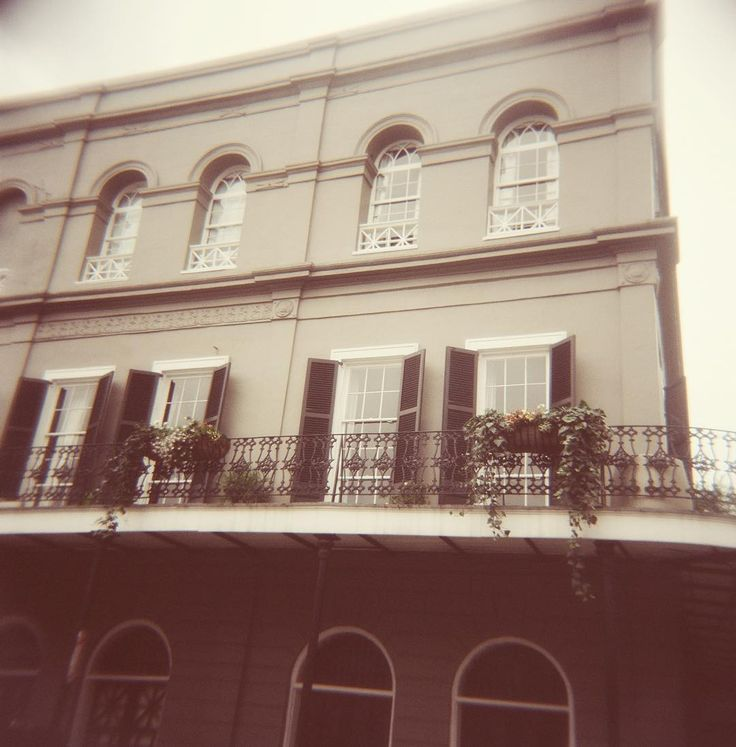 "The LaLaurie Mansion at Royal and Governor Nicholls in the quarter.  My thoughts before living in New Orleans.  Dr. LaLaurie attended Heidelberg University the same as Goebbels.  Very interesting yes?  With the Nazi's love of eugenics?? And all their ""experimentation""? Nicolas Cage bought the house on the advice of his agent.  He was never told the history.  When he and and family arrived to inhabit the newly remodeled  house they were told.  They never spent one night there.  Johnny Depp…"