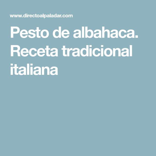 Pesto de albahaca. Receta tradicional italiana