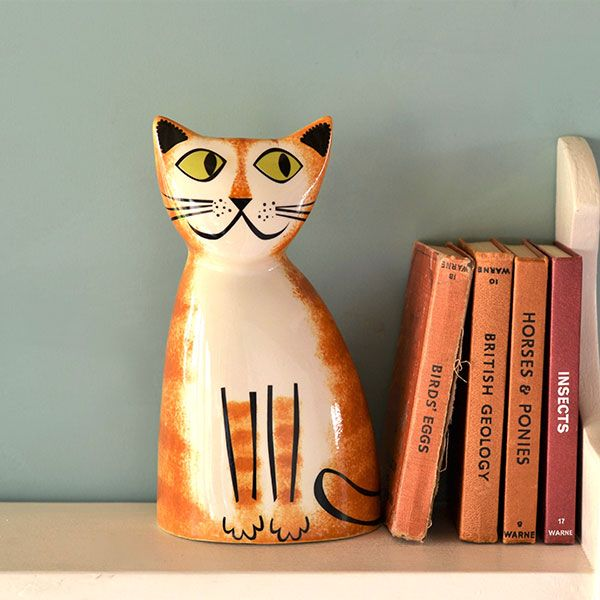 Ginger Cat Money Box by Hannah Turner