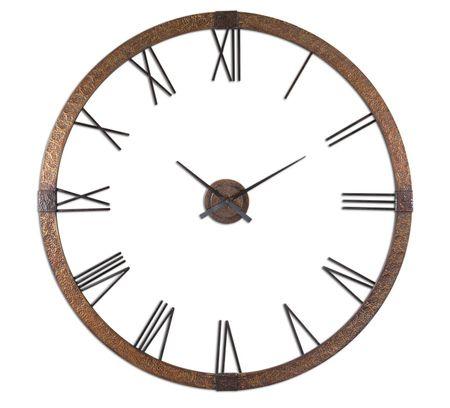 "Amarion Rustic Metal Oversized Wall Clock 60"""""