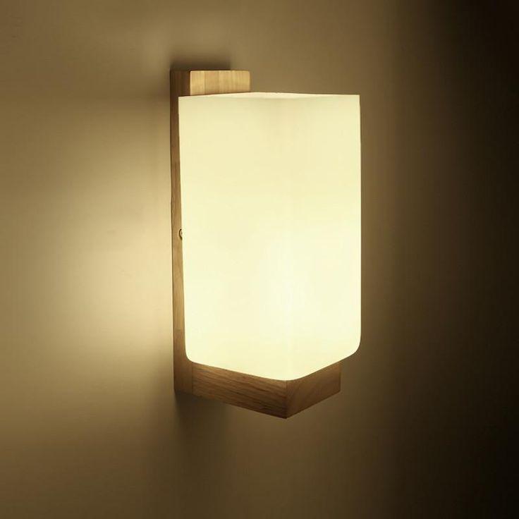 Wood Modern Creative LED Wall Light,Natural Oak Wood Wall Lamp For Balcony Stairs Aisle Home Lights,Arandela Lamparas De Pared