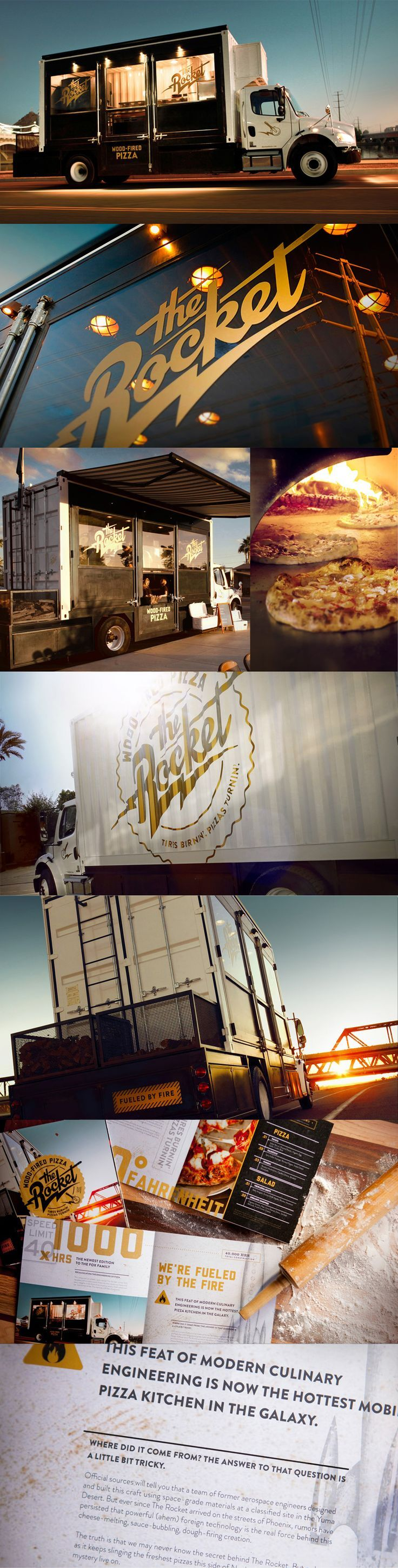 The Rocket. Wood-fired pizza in a truck.