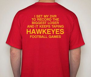 IOWA STATE CYCLONES biggest loser iowa hawkeyes by PressboxApparel, $19.99