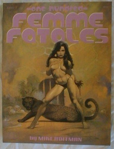 Mike Hoffman Femme Fatales Art Illustration Book. In the style of Borris Vajello. Printed in 2006 this book features 100 illustrations of scantily clad women. Black & white.