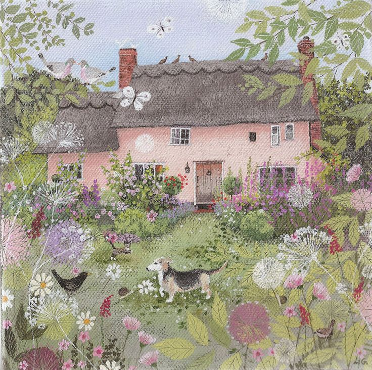 Rose Cottage in summer - Lucy Grossmith*