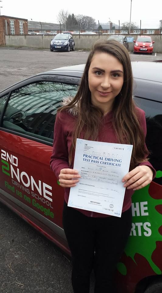 A big congratulations to Lucy Gibbs who passed her driving test today 26/01/2017 in Brislington Bristol!   Well done Lucy and safe driving in the future from your driving instructor Kevin Allen & all at 2nd2None Driving School   https://www.2nd2nonedrivingschool.co.uk/driving-lessons-bristol.html