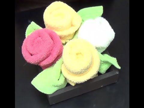 . Rosas de toallas DIY para decorar tu baño - YouTube