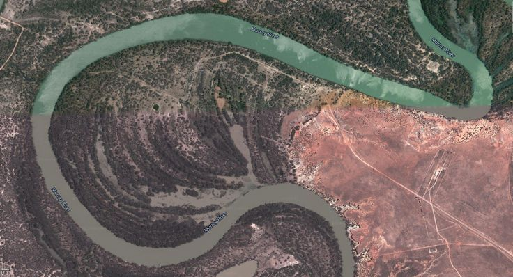 Aerial map of Australian outback