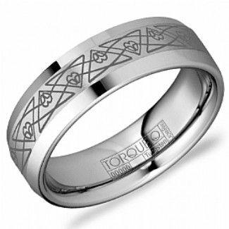 Crown Ring - Collections Alternative Metal Tungsten Carbide Tu 0008 9