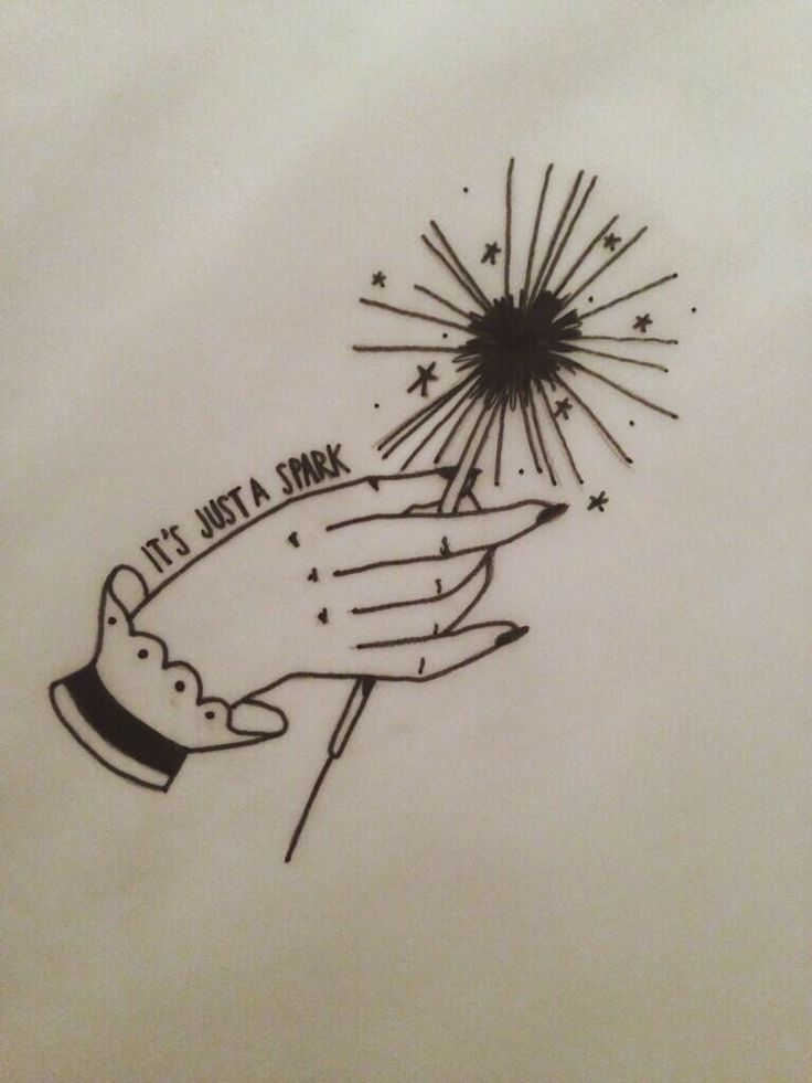 It's just a spark - Paramore tattoo Fucking love this work! I would love to know who created this design!!
