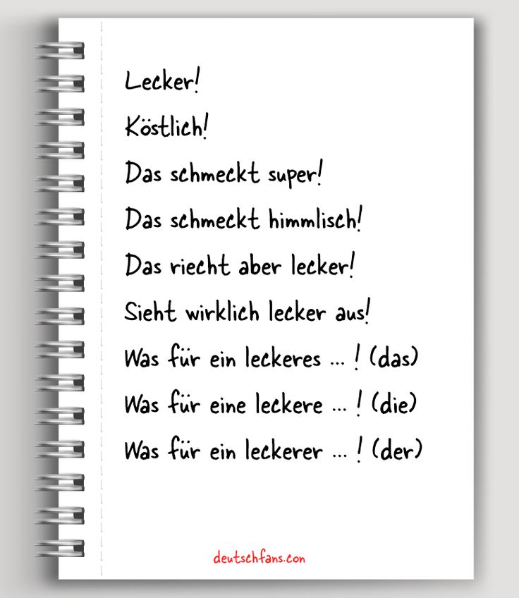 Oben findet ihr ein paar Wendungen dafür, wie man auf Deutsch sagt, dass uns etwas schmeckt. #Deutsch #German
