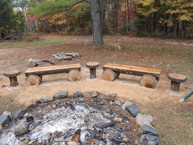 Oak Benches with End Tables by Marty's Log Creations