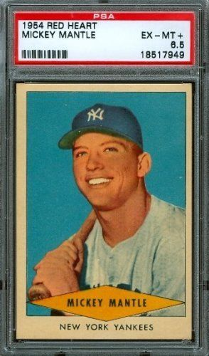 1954 Red Heart - Mickey Mantle - PSA 6.5 -- New York Yankees HoF by Red Heart Dog Food. $700.00. 1954 Red Heart - Mickey Mantle - PSA 6.5 -- New York Yankees HoF