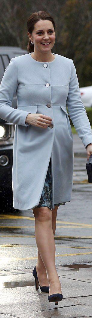 She recycled the dress for a visit toBethlem Royal Hospital just two weeks later... #katemiddleton #royals