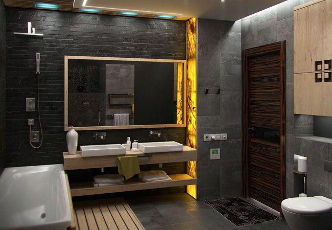 17 Best Ideas About Slate Bathroom On Pinterest