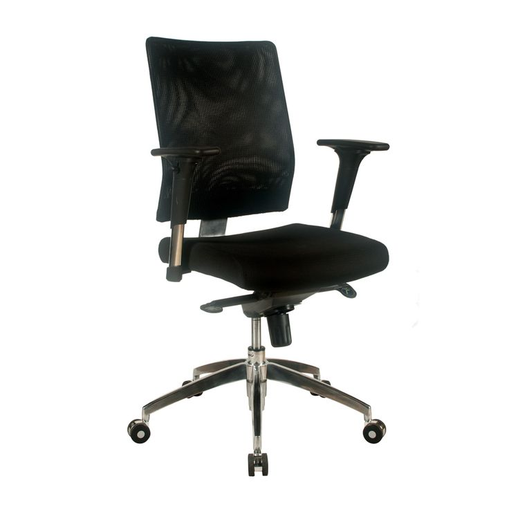 Kala Medium Back Fabric Seat & Mesh Back - The Kala executive office chair offers the beauty and functionality of mesh. The Kala executive chair comes with a fabric seat combined with a mesh back and is available as a medium back.  Prices listed include fabric.  Features - Gas lift - Fixed back - Height adjustable arms - Chrome hi-arch 5 star base - Full 3 year warranty