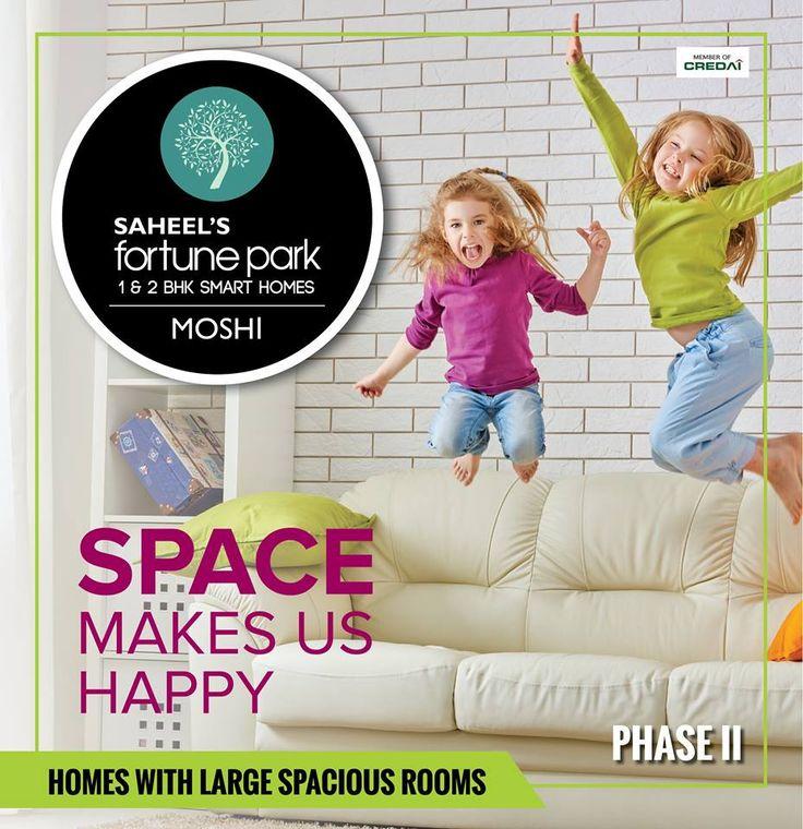 SPACE makes us HAPPY! Mob - +91 9511951142 | www.fortunepark.in Site Add: Gat No.195 , Next to Priyadarshani School, Dehu - Alandi Road, Borhadewadi, Moshi, Pune