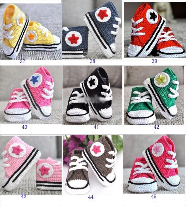 Hot sale baby crochet sneakers shoes shoe booties,Handmade crochet 5 star sneaker shoe sandals prewalker for infants/toddlers/kids/babies