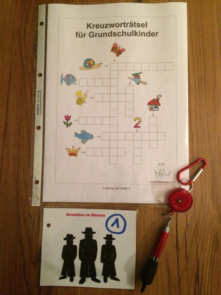 Detektiv-Party Rätsel Nr. 1.  Nach dem erfolgreichen lösen gibts einen Schreiber für die Detektive