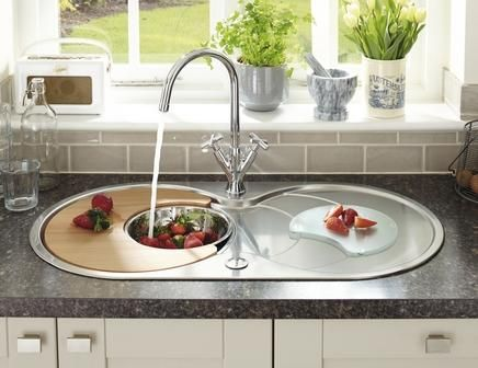 The Lamona Round Bowl Sink With Drainer Is Perfect Finish To Any Kitchen