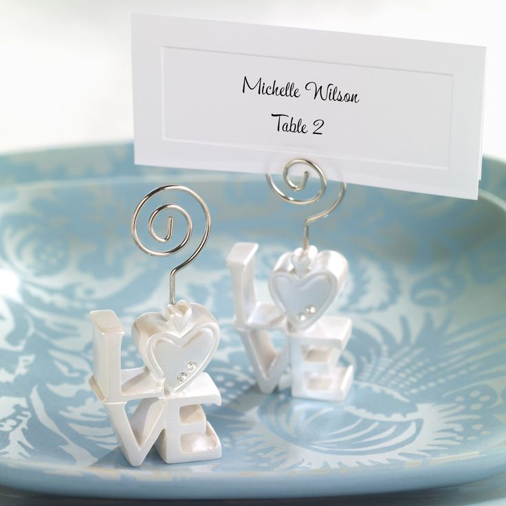 LOVE Wedding Place Card Holder exclusivelyweddings