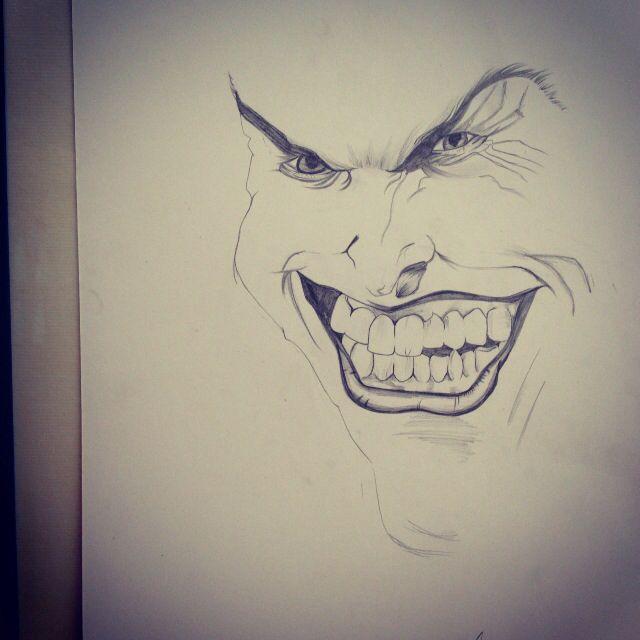 Joker, black and white sketch